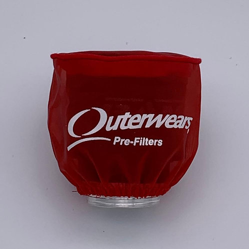 OUTERWEARS - WATER RESISTANT FILTER COVER -RED