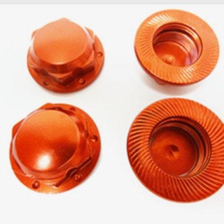 Raminator CNC Aluminum Enclosed Wheel Nuts (red)