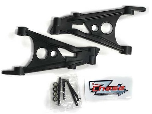 TEAM CHASE HPI BAJA REAR SHOCK UPRIGHTS