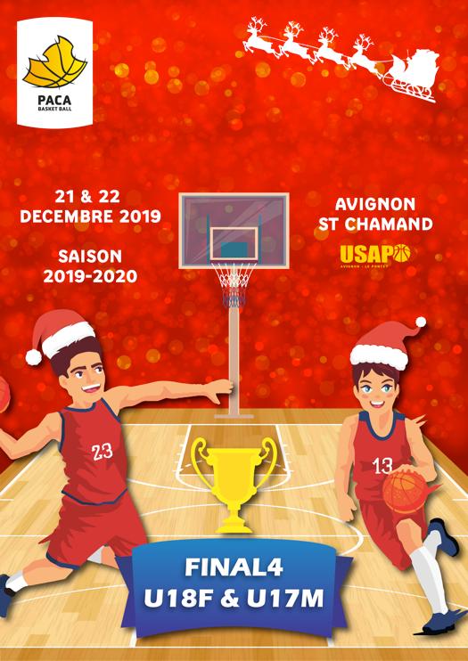 Affiche Final 4 U18F, U17M Coue PACA 2019