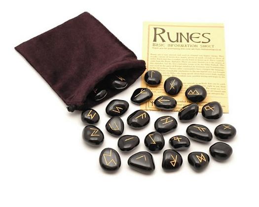 Black Jasper Runes Set