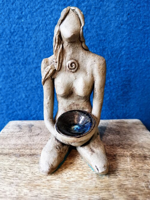 Altar Goddess with Offering Bowl