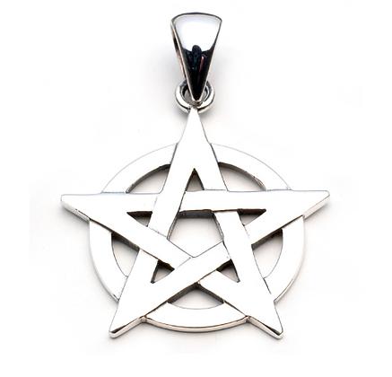 Pentagram Overlaying Circle Necklace