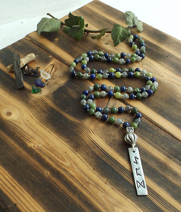 The Mage's Journey ~ Crystal & Rune Mala