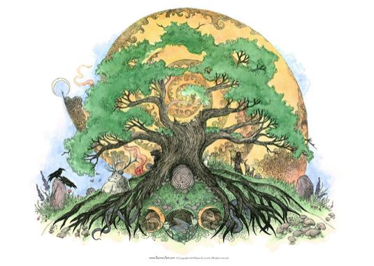 Solstice Oak - by NomeArt