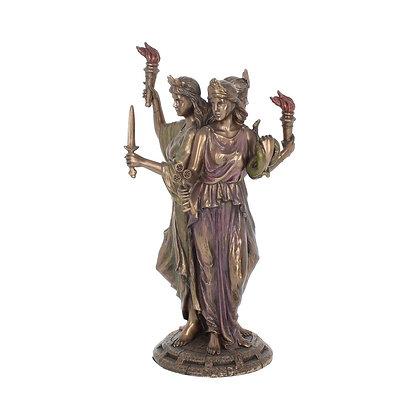 Hecate Triple Goddess Bronze