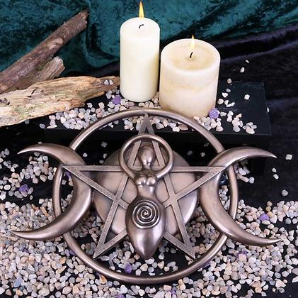 Triple Moon Goddess Plaque