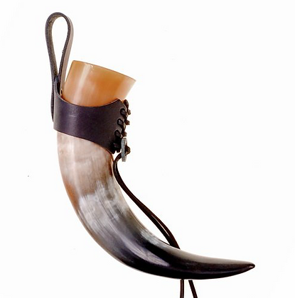 Laced Drinking Horn Holder