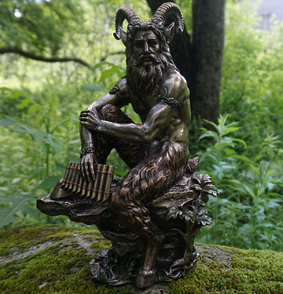 Pan with Pipes Bronze Statue