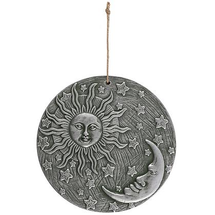 Silver Sun & Moon Wall Plaque