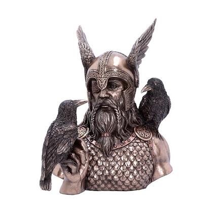 Odin's Messenger Bronze Statue