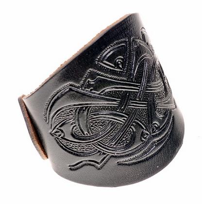Leather Buckle Bracelet - Viking Design