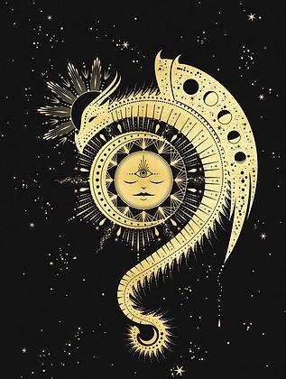 Magic Dragon - A3 Art Print