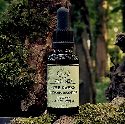 The Raven Organic Beard Oil by Stag + Seer