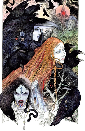 Morrigan Altar Card - By NomeArt