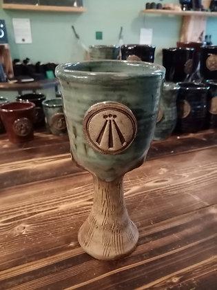 Goblet with Awen Symbol