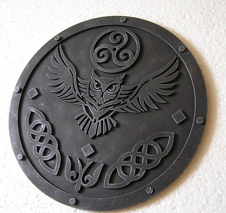 Owl Pagan Wall Plaque