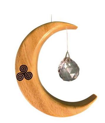 Celtic Crescent Moon Suncatcher by Artwood