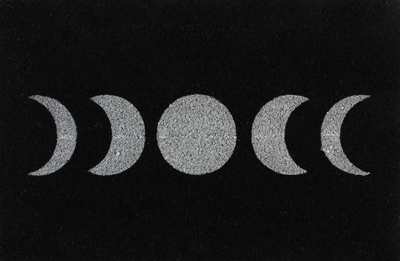 Black Moon Phase Doormat