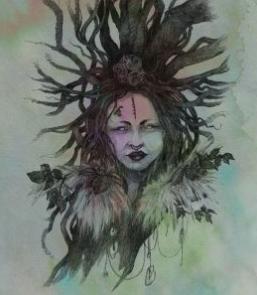 Hazel Tree Spirit - by NomeArt