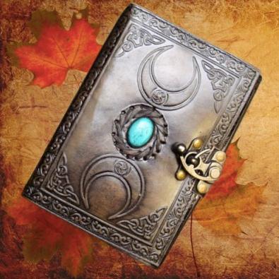 Leather Embossed Triple Moon Journal