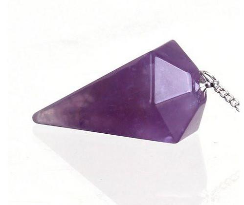 Faceted Amethyst Crystal Pendulum