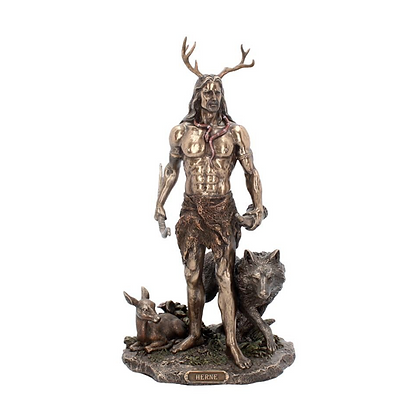 Herne the Hunter & Animals Bronze Statue