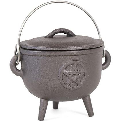 Cast Iron Cauldron - Pentacle