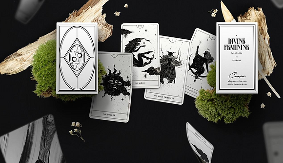 White & Black Divine Feminine Tarot Deck