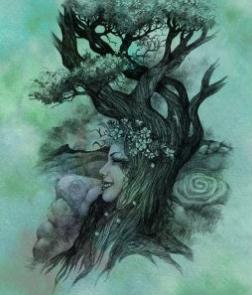 Hawthorn Tree Spirit - Art Print