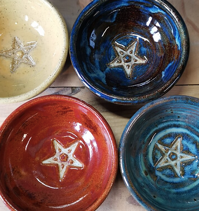 Ceramic Offering Dish - Pentacle Design