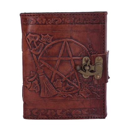 Leather Embossed Pentagram Journal