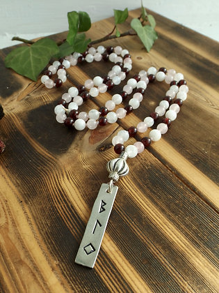 The Mother's Journey ~ Crystal & Rune Mala