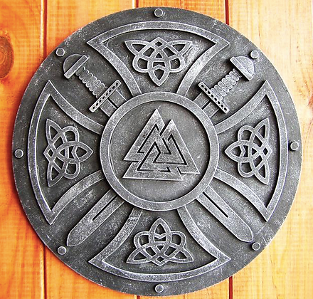 Valknut Viking Wall Plaque