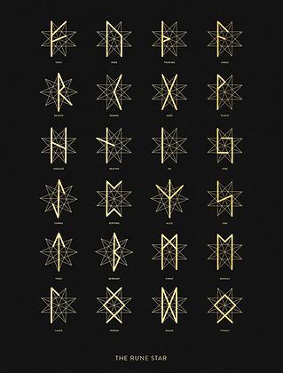 Rune Star - A3 Art Print