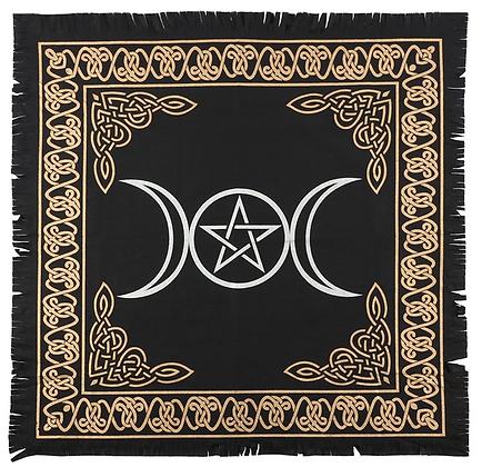 Triple Moon Pentacle Altar Cloth
