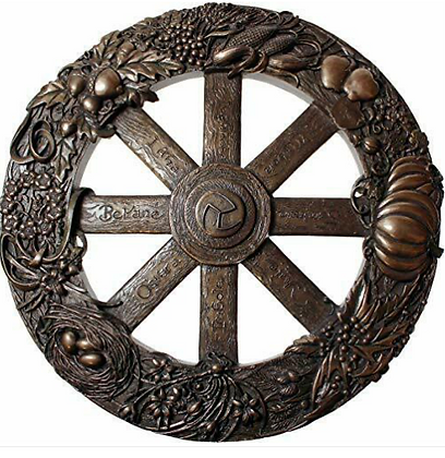 Pagan Wheel of the Year Bronze Wall Plaque