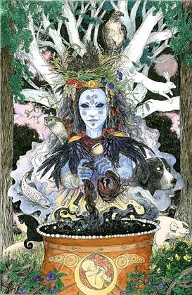 Cerridwen Altar Card - By NomeArt