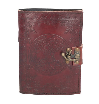 Leather Embossed Tree of Life Journal