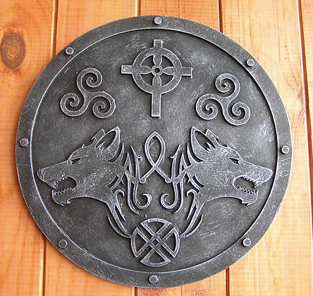 Wolves Viking Wall Plaque
