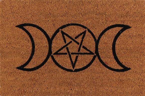 Triple Moon Door Mat
