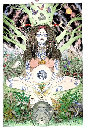 Sheela Na Gig Altar Card - By NomeArt