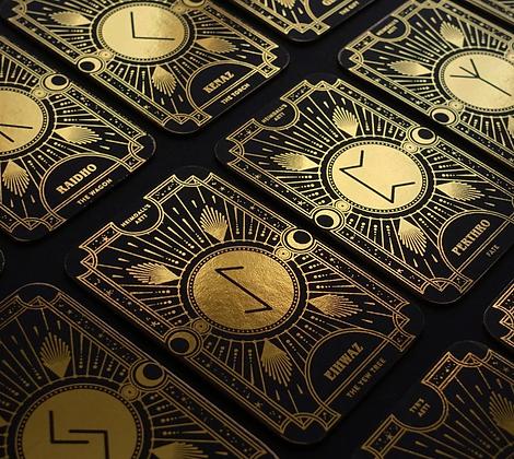 Cosmic Whisper Rune Cards by CoCorrina