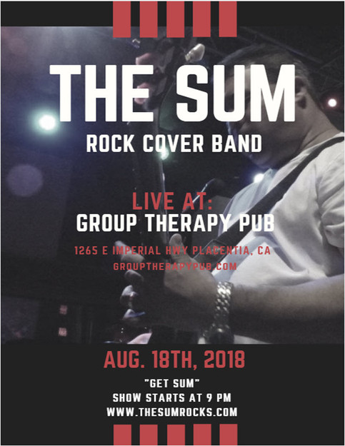 The Sum Live at Group Therapy Pub in Placentia this Saturday Aug. 18th at 9 PM