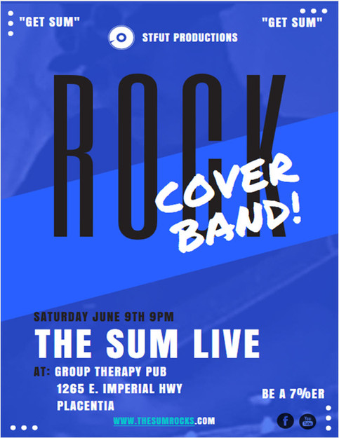 The Sum Live at Group Therapy Pub in Placentia.  Get Sum