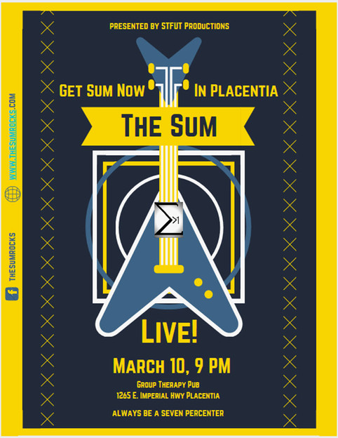 Get Sum Now in Placentia With The Sum Live at Group Therapy Pub