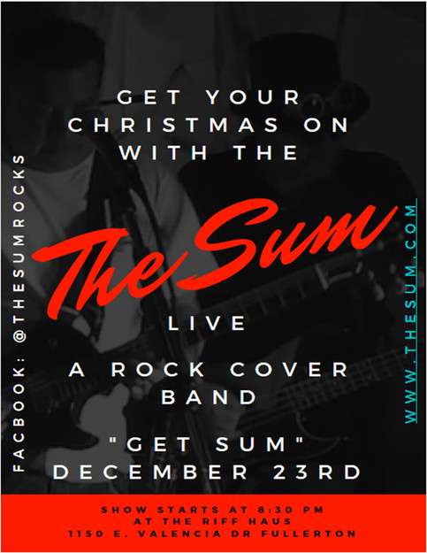 Get Your Christmas On With The Sum Dec. 23rd At Riff Haus in Fullerton