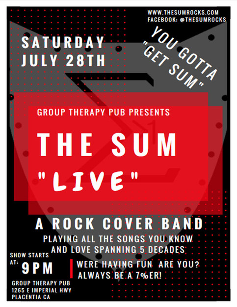The Sum Live at Group Therapy Pub In Placentia