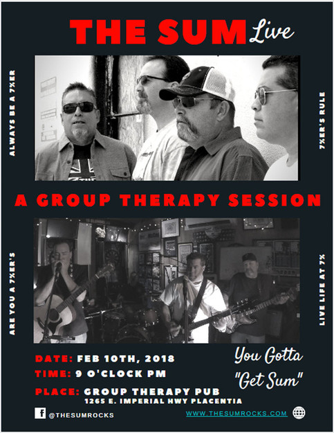 The Sum Live at Group Therapy Pub Feb. 10th 9 PM
