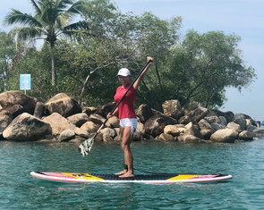 Learning to SUP with Celine@Sea!